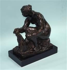 """PIERRE AUGUSTE RENOIR (1841-1919) - """" La Peti"""
