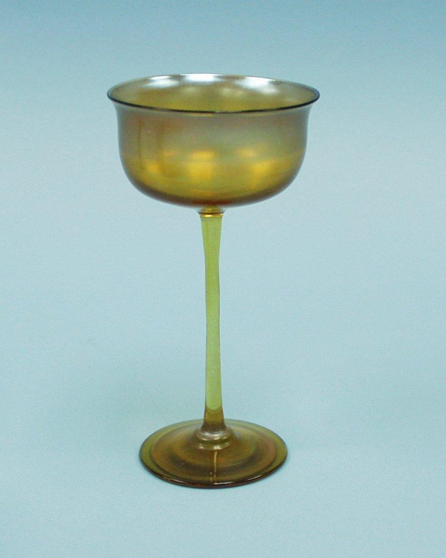 6: ART NOUVEAU - L.C. Tiffany. A tall Favrile glass ves