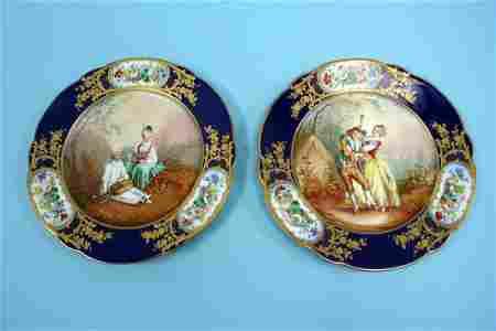 28: A fine pair of antique French Sevres, Louis Phillip
