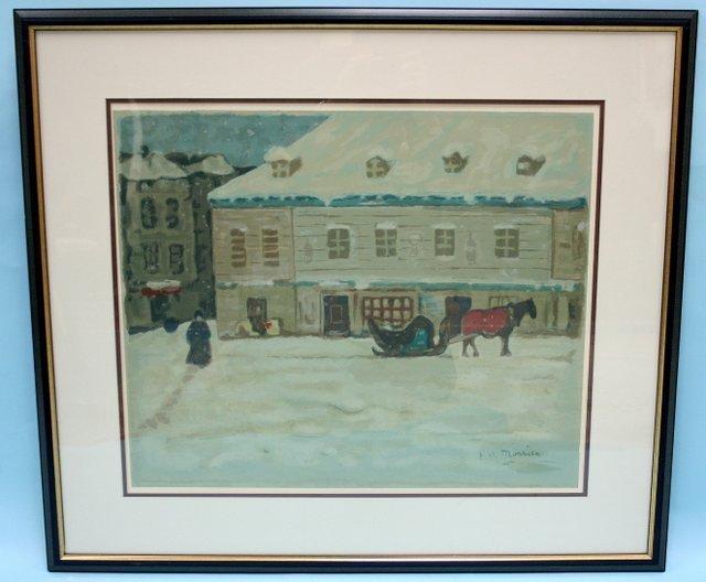 "303: J. W. MAURICE - Canadian school. ""Winter streetsce"