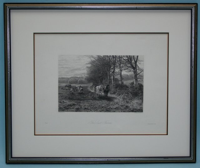 306: A lot of 7, English black and white etchings on pa