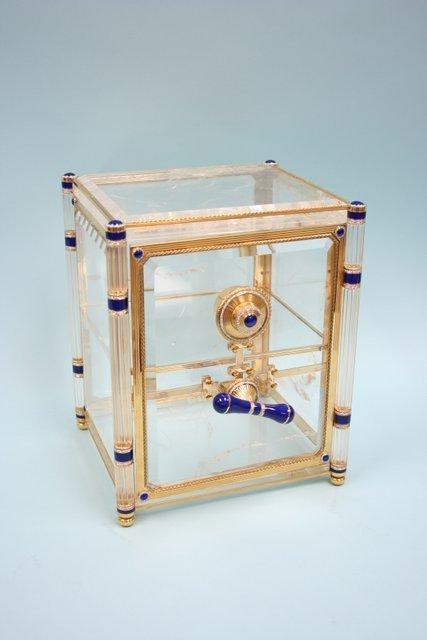 397: ASPREY - A custom made exquisite 18 kt. Gold and r