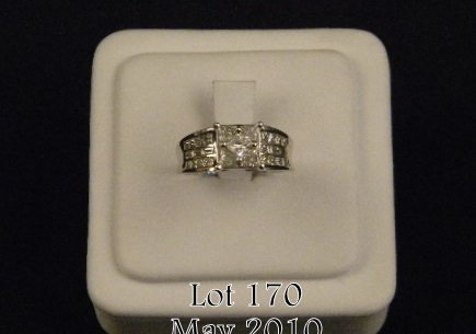 170: One ladies diamond ring set with assorted shapes