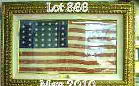 866: Expertly framed Civil War-style Union guidon with
