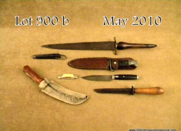 900B: Misc. lot of knives including a Goodell Co. blade