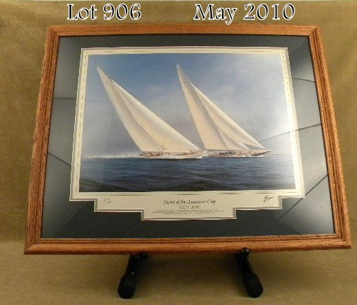 906: Beautifully framed, matted and signed by H.  Thomp