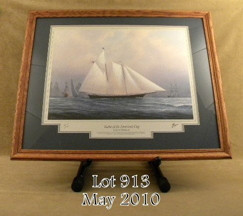 913: Beautifully framed and matted signed by H.  Thomps
