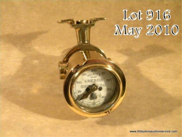 "916: Solid brass nautical ""Cherub"" Walker's Patent Ship"