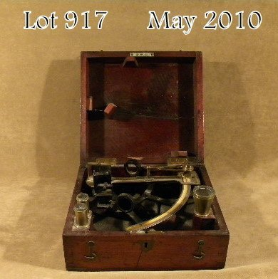 917: Antique nautical sextant, cased in hinged wood box