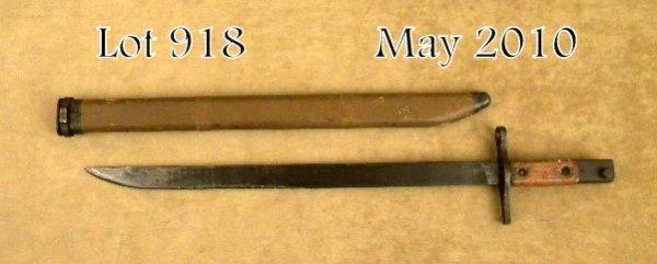 "918: Korean ""pole"" bayonet and wood sheath for the  Jap"
