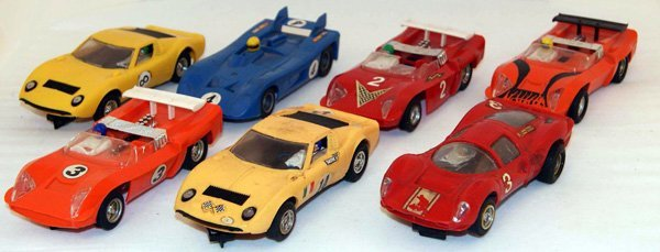 2: 7 x Unboxed Scalextric including 3 x C4 Electra, 2 x