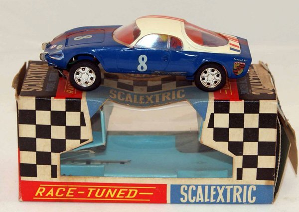 14: Scalextric C2 Matra Jet.  Blue with White Roof and