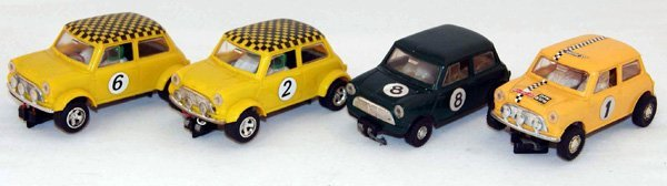 15: 4 x Unboxed Scalextric Mini Cooper including C76 Fw