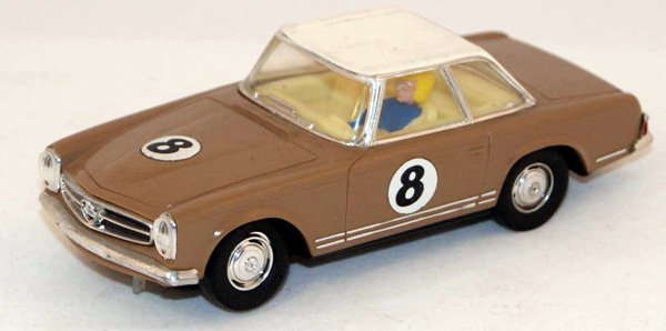20: Unboxed Scalextric C32 Mercedes 250SL.  Beige with