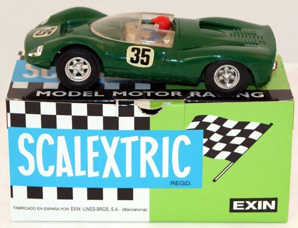 22: Scalextric C41 Ferrari GT 330.  Green with Beige in