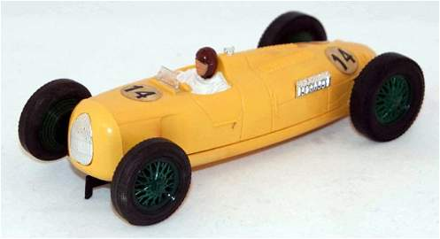 58: Unboxed Scalextric C71 Auto Union.  Yellow with Gre