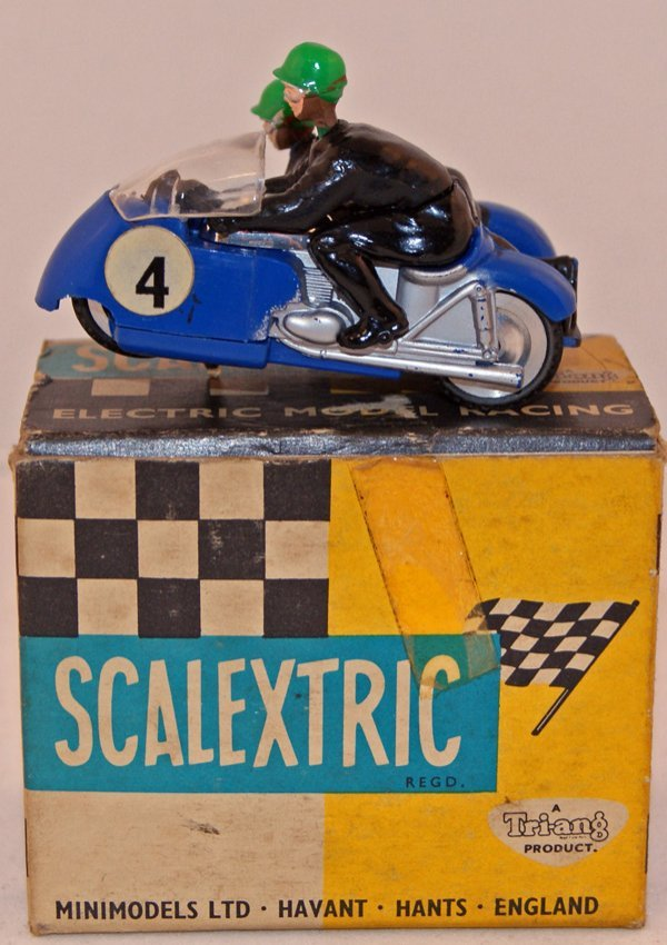193: Scalextric B2 Hurricane.  Blue RN 4.  Near Mint in