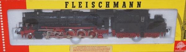10: Fleischmann # 4175 2-10-0 Loco Black and Red.  Mint