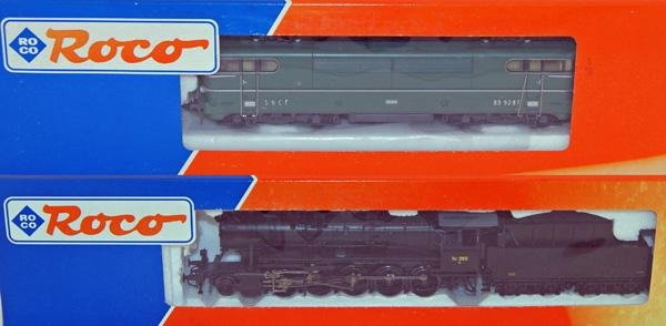 12: 2 x Roco including # 63542 SNCF BB 9287 Green and S