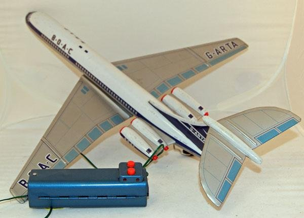 23: Unboxed Battery Operated Mettoy BOAC G-ARTA DC 10.