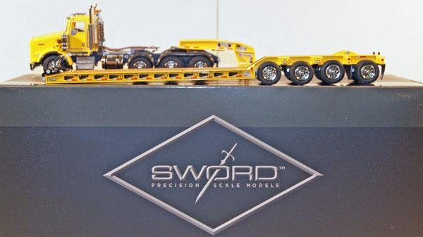 98: Sword 1:50 Scale Kenworth T800 W 4 Axle Day Cab and