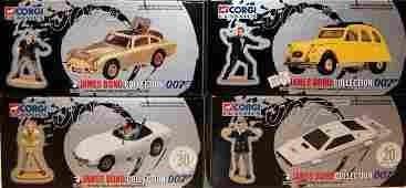 348: 4 x Corgi Classics James Bond Cars including Aston