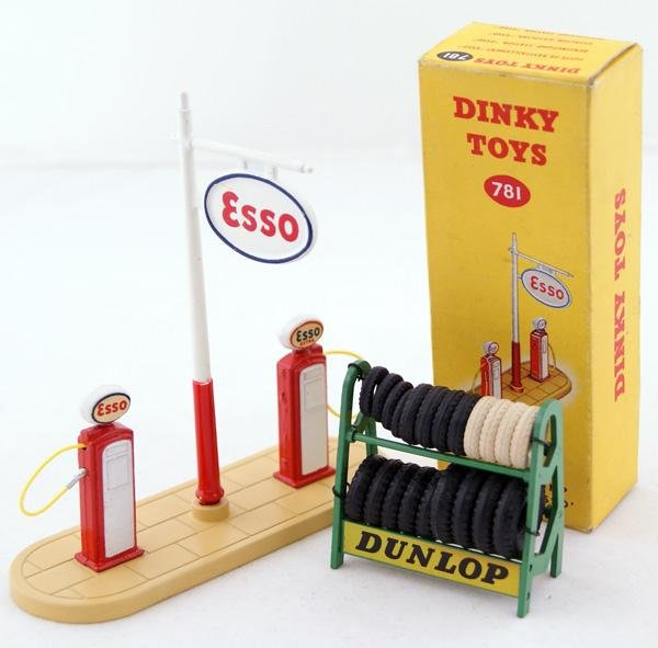 "4: Dinky # 781 Petrol Pump Station ""ESSO"" comprising St"