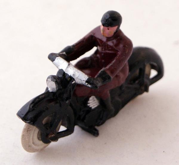5: Unboxed Dinky # 37a Pre War Civilian Motorcyclist.