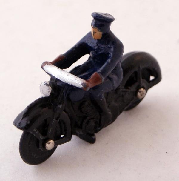 8: Unboxed Dinky # 37b Police Motorcyclist.  Dark Blue