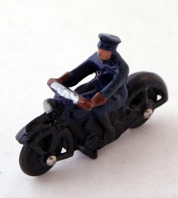 9: Unboxed Dinky # 37b Police Motorcyclist.  Dark Blue