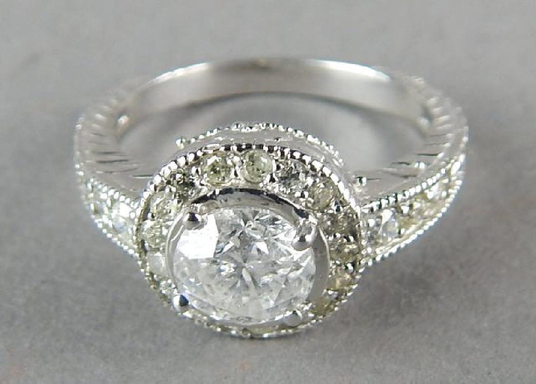 14kt White Gold 1ct Diamond Ring