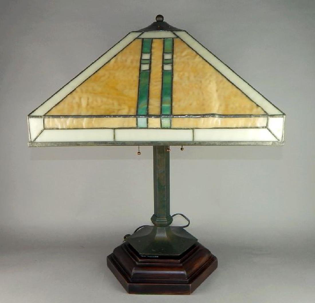 Fantastic Arts and Crafts Hand Made Art Glass Lamp