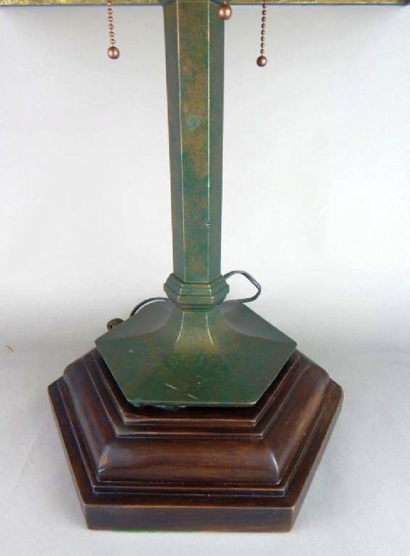 Fantastic Arts and Crafts Hand Made Art Glass Lamp - 4