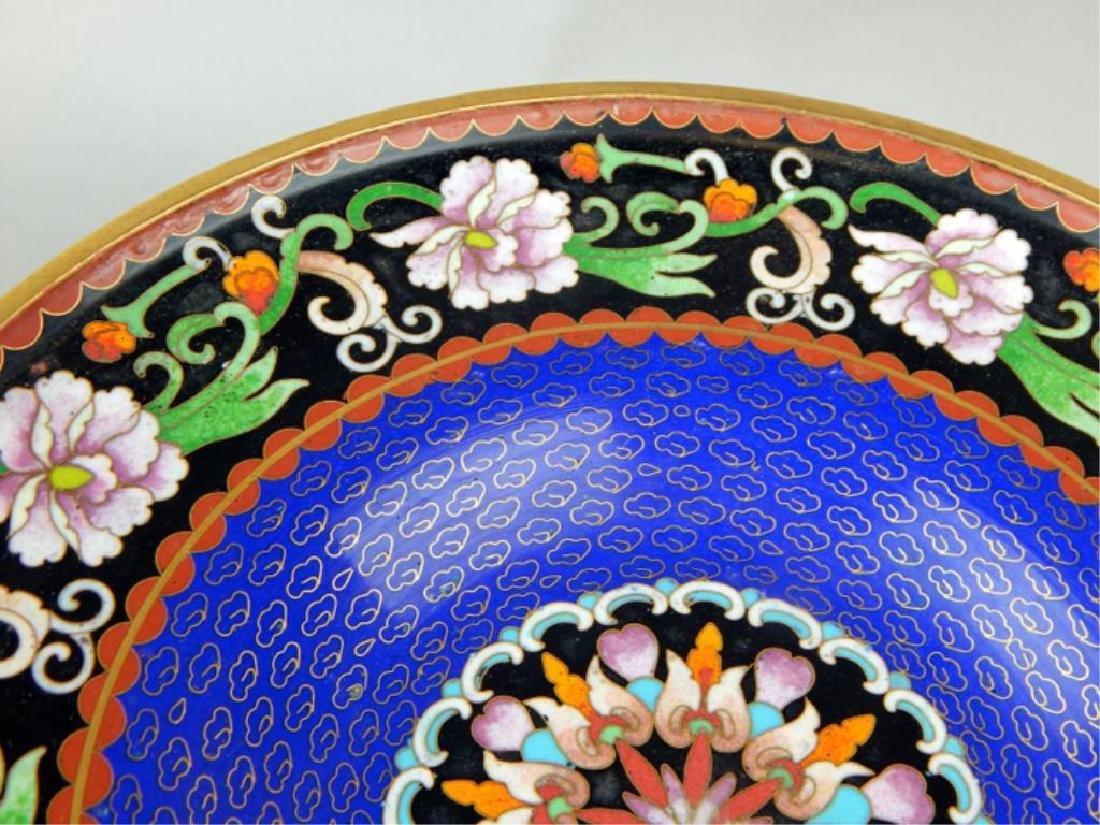 Chinese Cloisonne Pedestal Centerpiece - 3
