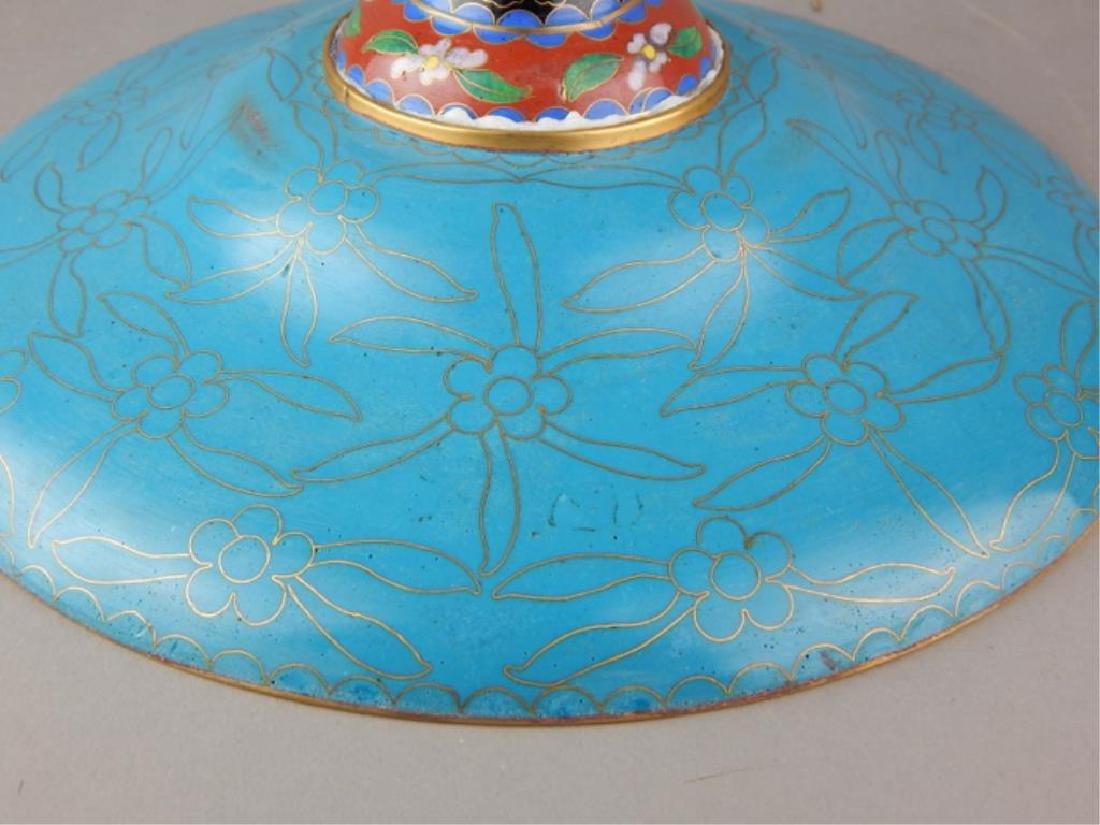 Chinese Cloisonne Pedestal Centerpiece - 7