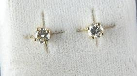 14kt Yellow Gold .24ct Diamond Stud Earrings