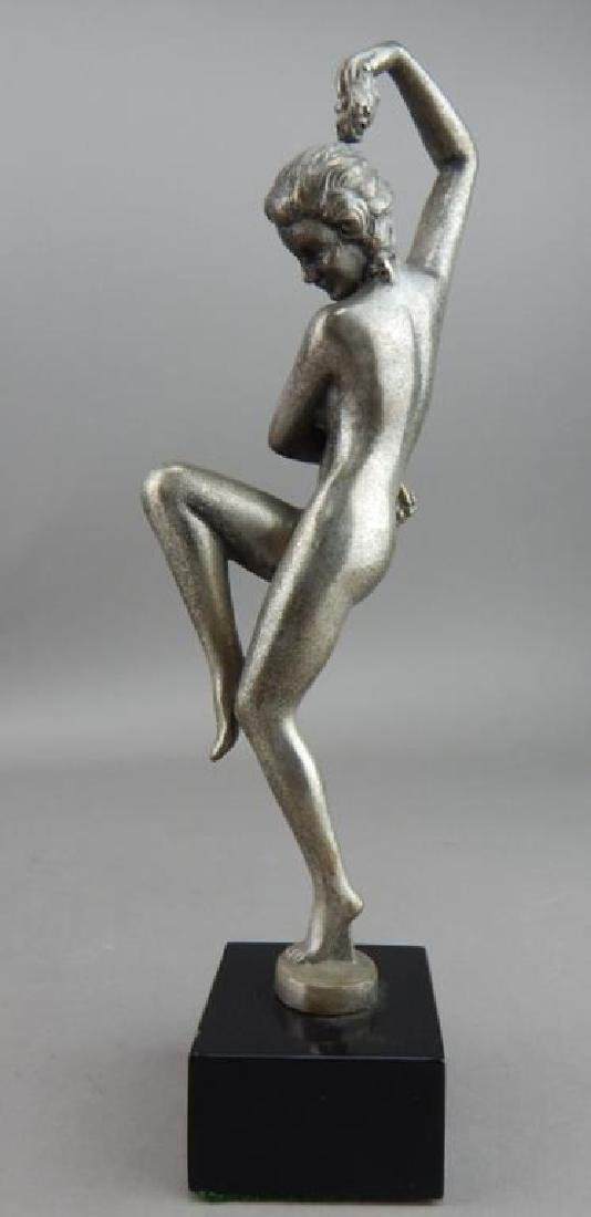 Art Deco Style Bronze Nude Dancer w/ Grapes - 4