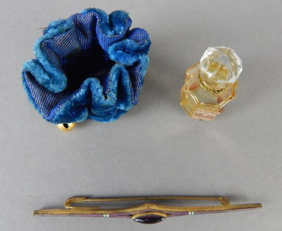 Amethyst Pin & Old Perfume Bottle - 3