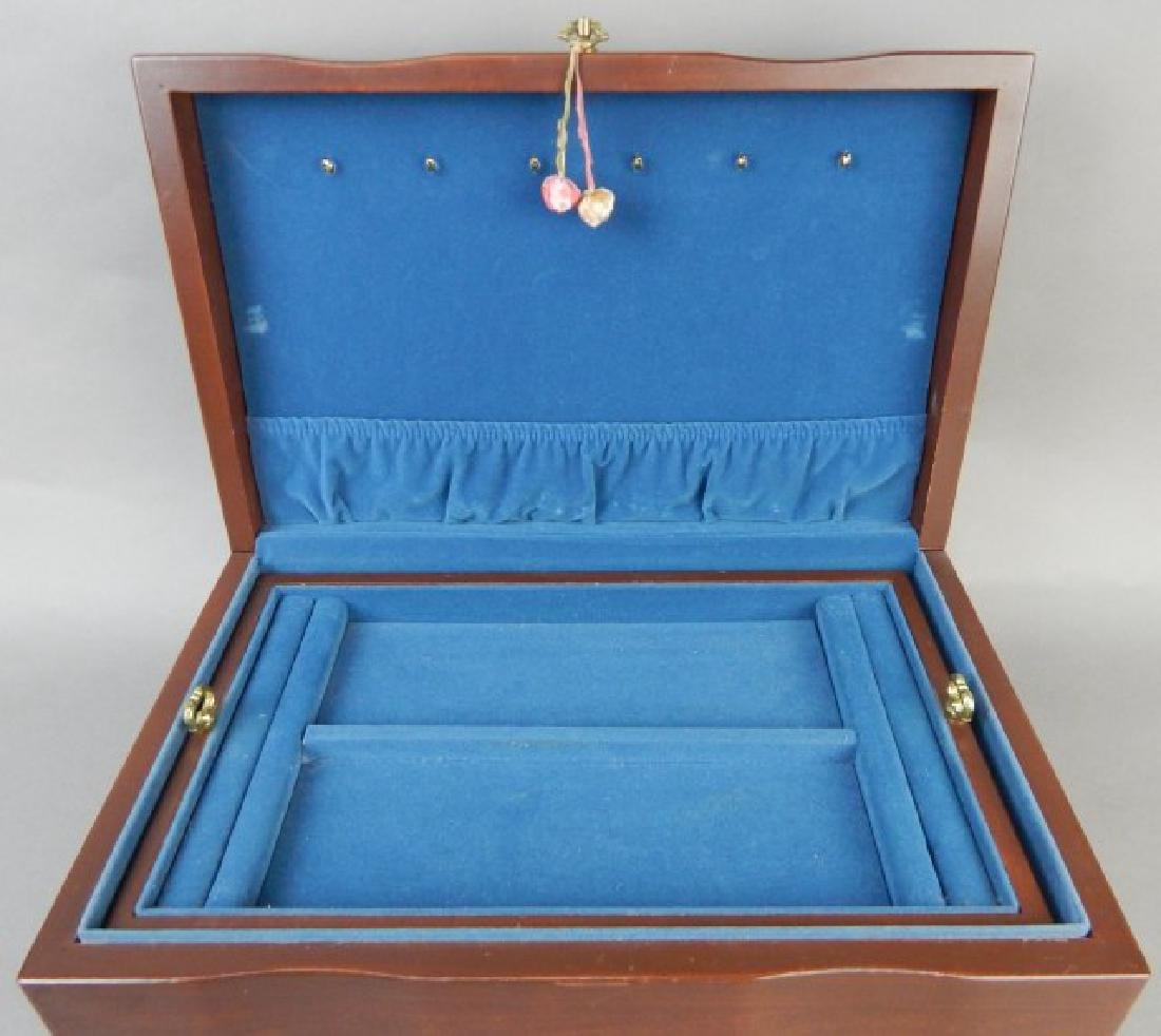 Blue Lined Jewelry Box