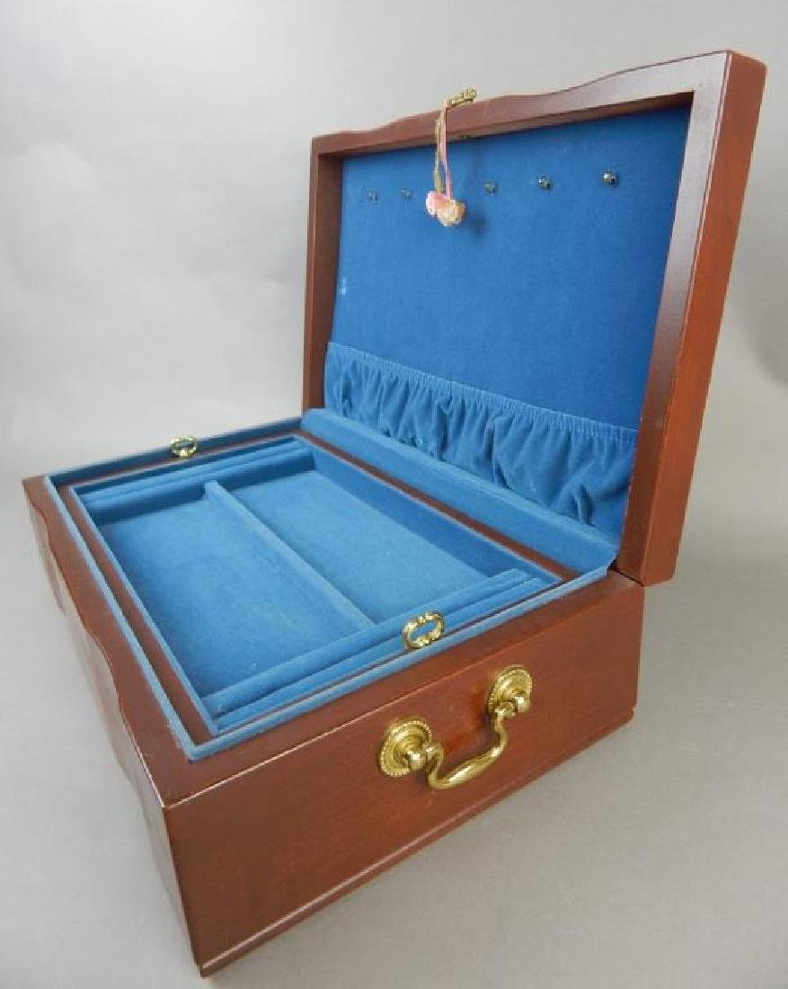 Blue Lined Jewelry Box - 3