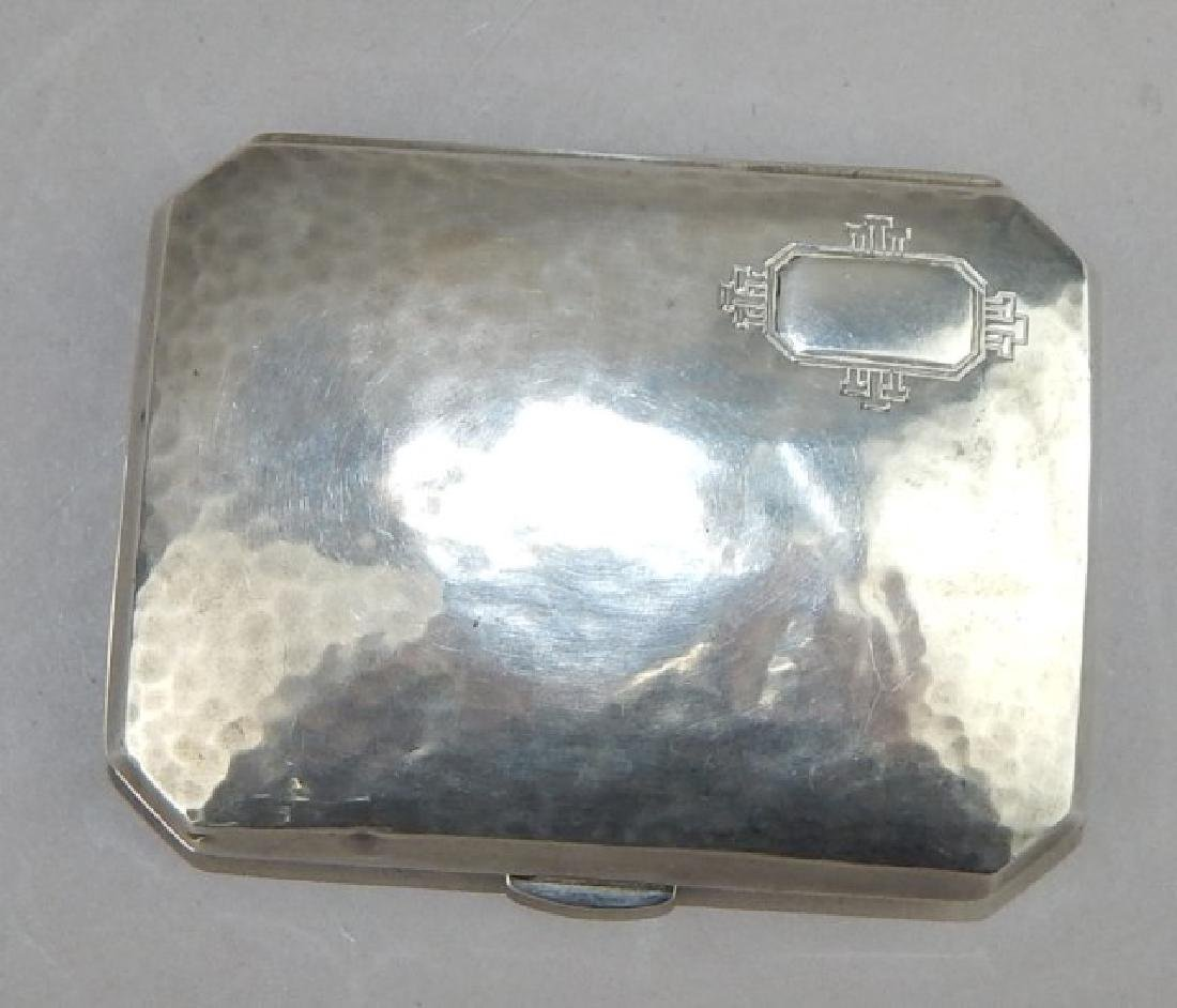 Hand Hammered Sterling Silver Card Case