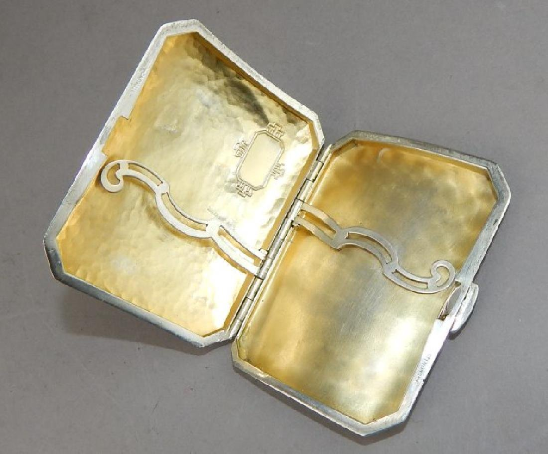 Hand Hammered Sterling Silver Card Case - 2