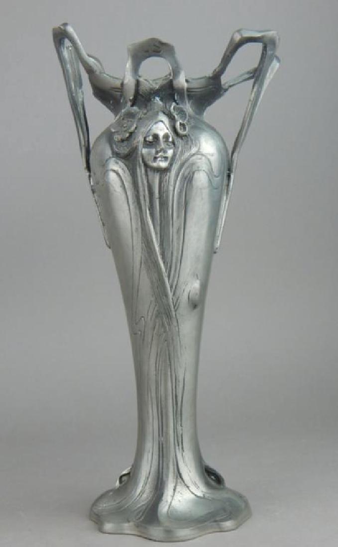 Art Nouveau Style Lady Face Vase