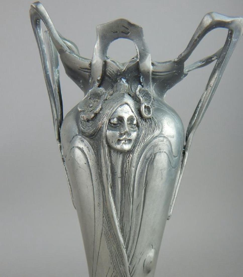 Art Nouveau Style Lady Face Vase - 2