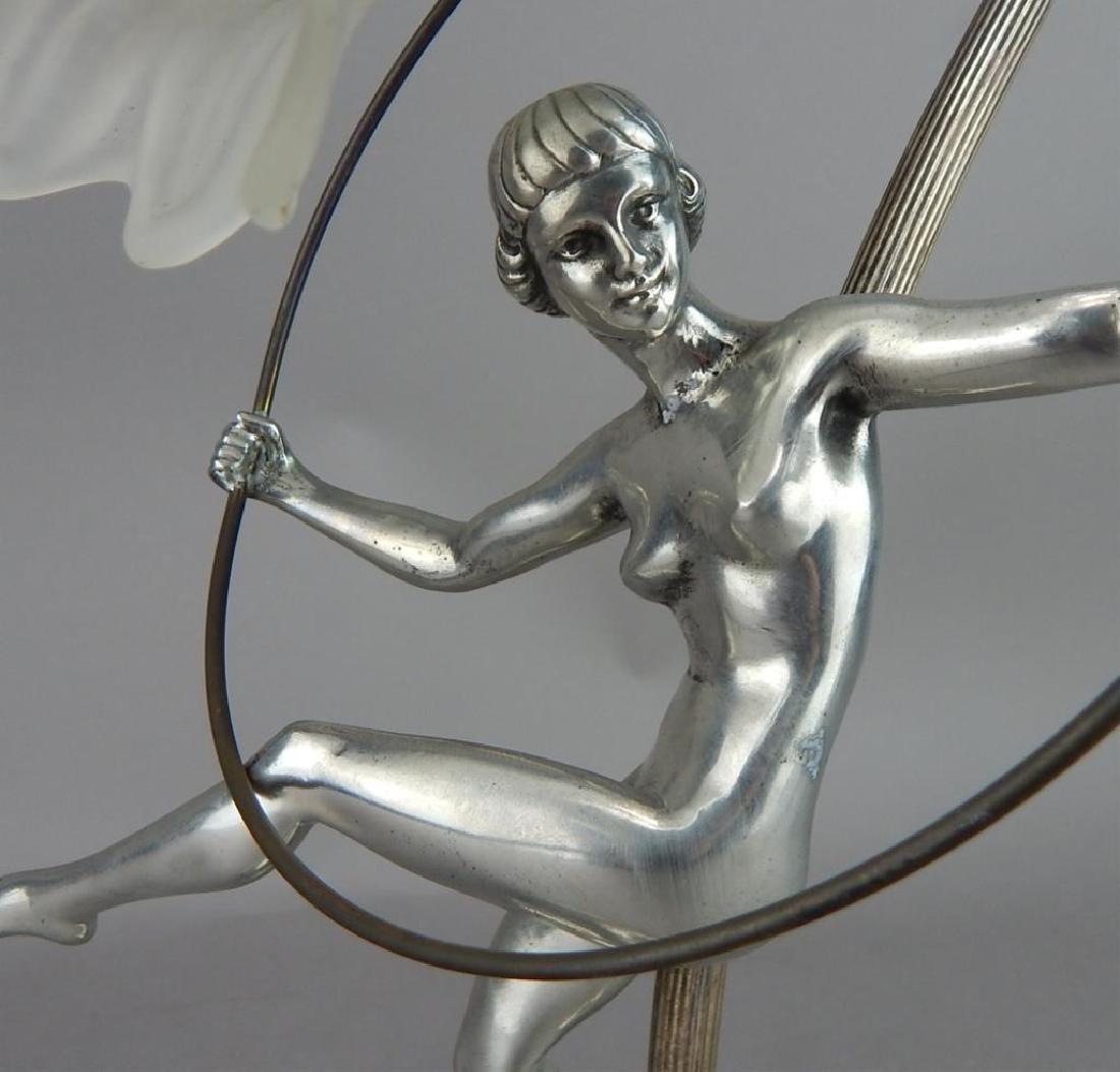 Art Nouveau Style Hoop Girl Figural Lamp - 3