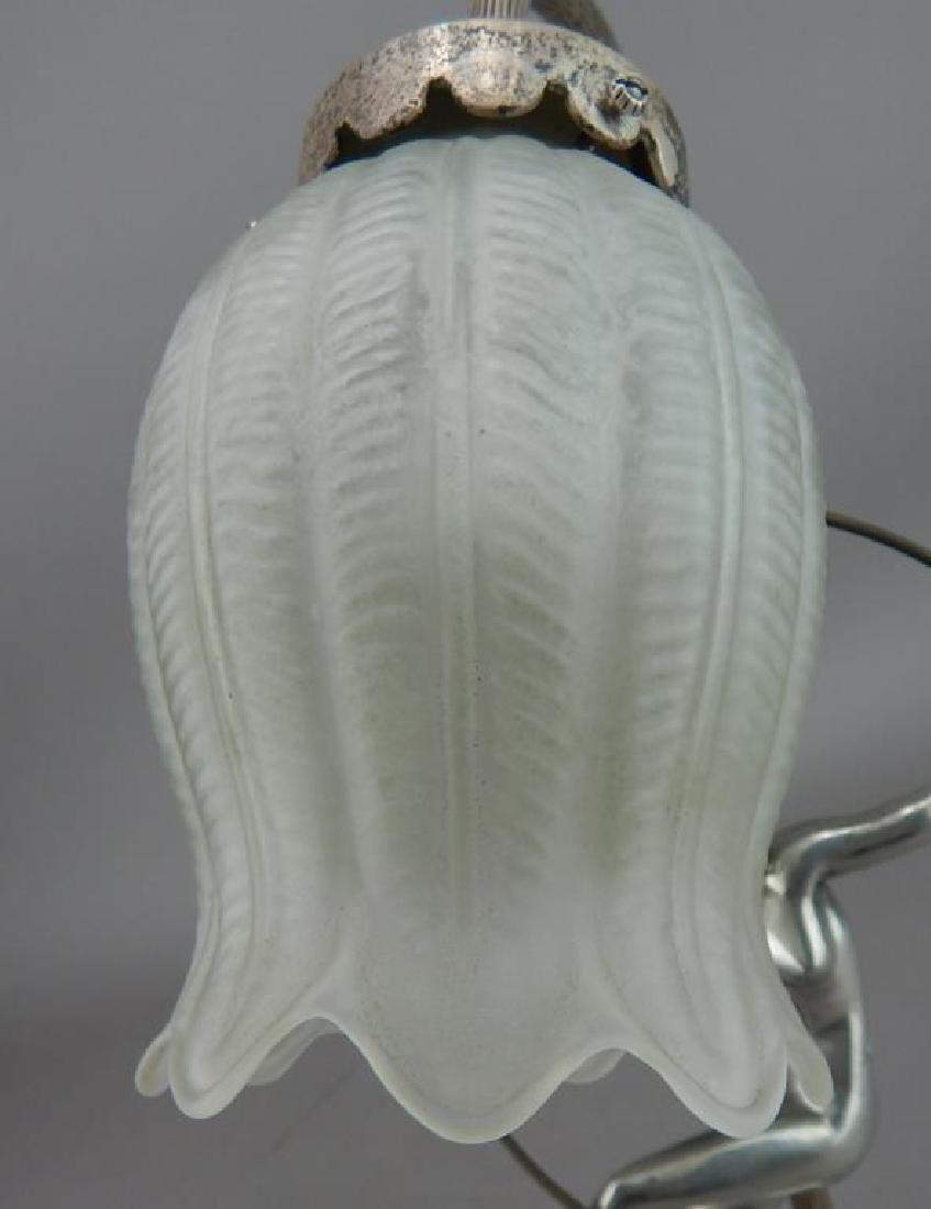 Art Nouveau Style Hoop Girl Figural Lamp - 9