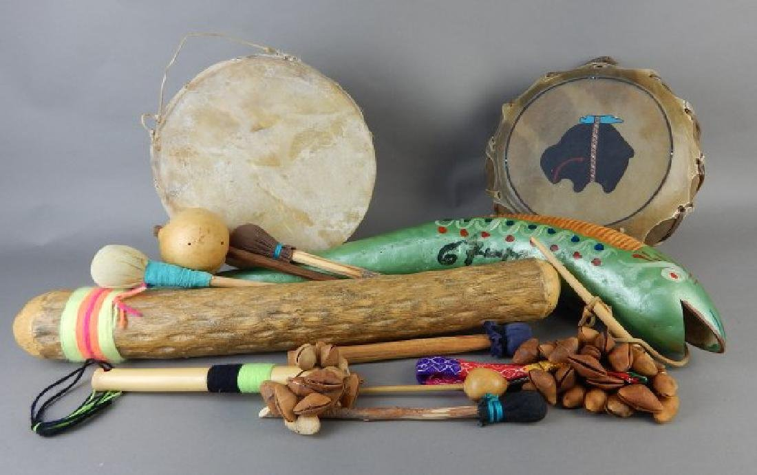 Twelve American Indian Crafted Items