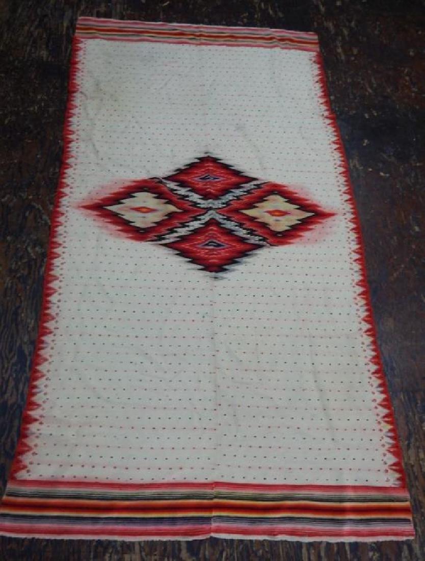 Vintage Mexican Serape Wool Rug