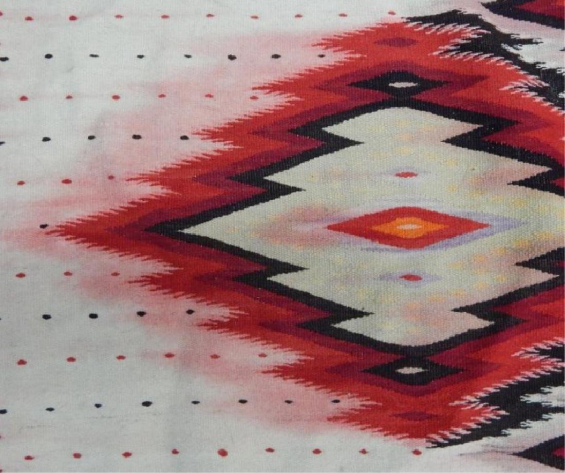 Vintage Mexican Serape Wool Rug - 3