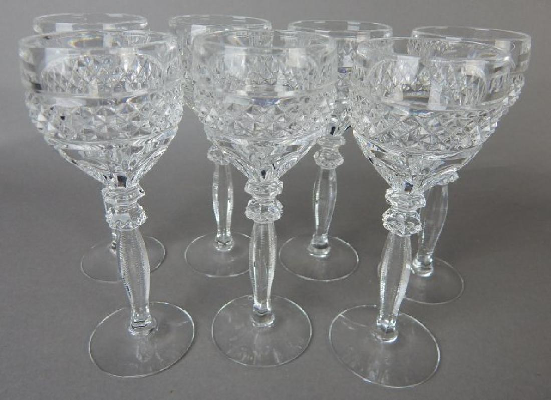 Seven Liquor Cut Glass Stems
